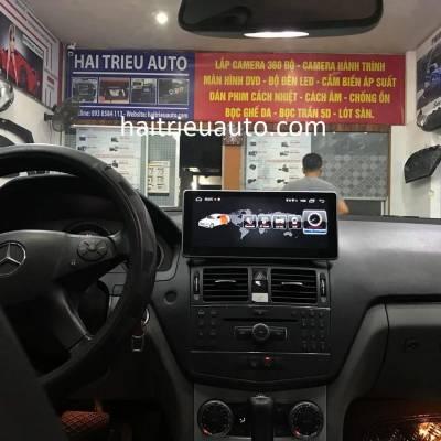màn hình android cho xe mercedes C250 2010