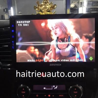 màn hình android zestech theo xe outlander