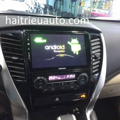 màn hình android zestech theo xe pajero sport
