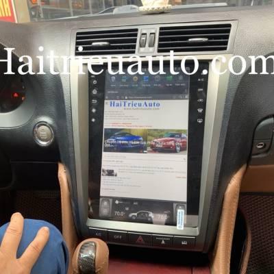màn hình tesla xe lexus GS 300