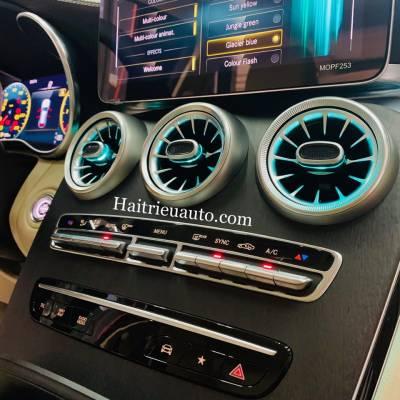 Cửa gió Turbine đèn LED cho xe Mercedes GLC 300 2020