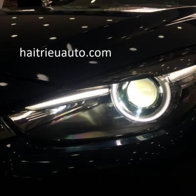 đèn pha độ 2.0 xe mazda 3 2018