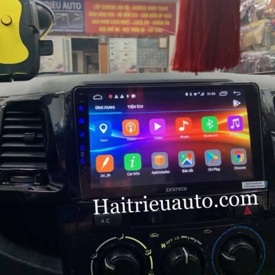 MÀn hình android zestech theo xe Fortuner 2013