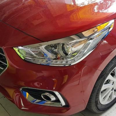 viền đèn trước cho xe Hyundai Accent 2018