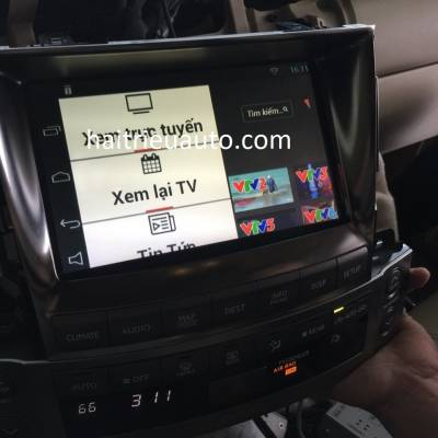 Lắp android cho xe Lexus LX 570 2013