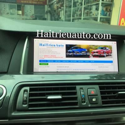 màn hình android theo xe BMW 523i