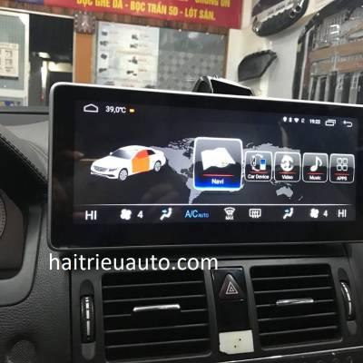 màn hình android theo xe mercedes C 200 2010