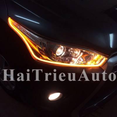 Độ đèn led cho xe yaris 2015