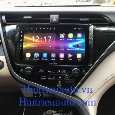 màn hình android theo xe camry 2020