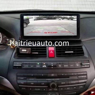 màn hình tesla theo xe accord