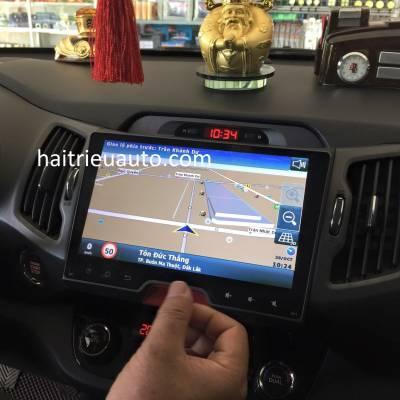 màn hình android theo xe sportage 2014