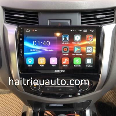 màn hình android zestech theo xe navara
