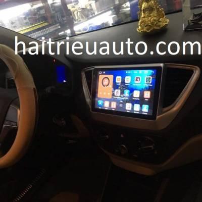 màn hình android theo xe accent 2018