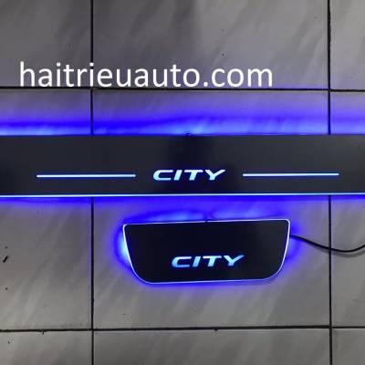 nẹp bước chân đèn led cho xe honda city