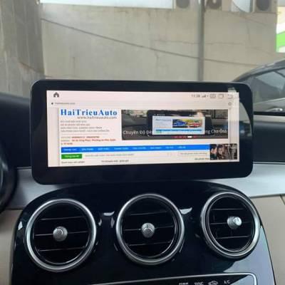 màn hình  theo xe mercedes GLC 250