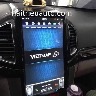 màn hình Tesla theo xe captiva 2017