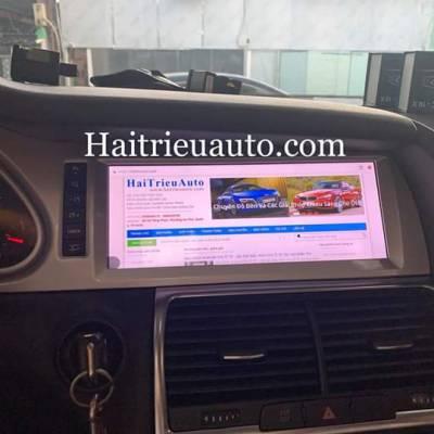 màn hình android theo xe audi Q7 2010
