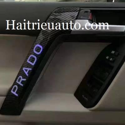tay mở cửa đèn led xe prado