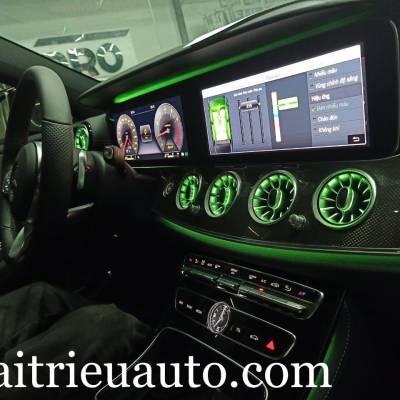 Cửa gió Turbine đèn LED theo xe Mercedes E300