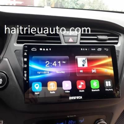 màn hình android zestech theo xe Hyundai i20