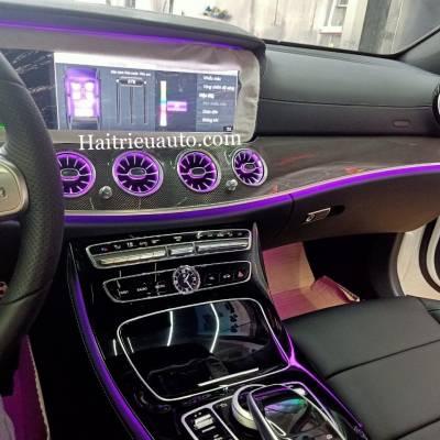 Cửa gió Turbine đèn LED theo xe Mercedes E350