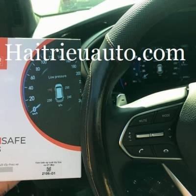 Cảm biến áp suất lốp hiện thị trên taplo xe Hyundai Santafe