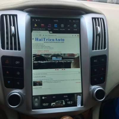 màn hình tesla android theo xe lexus RX350