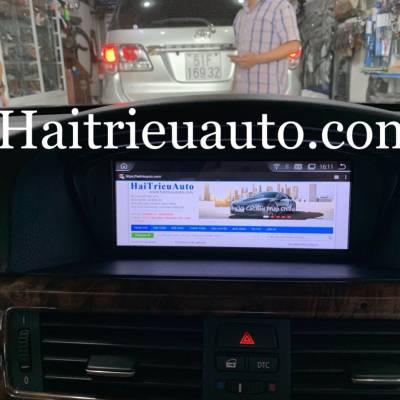 màn hình android theo xe BMW 530i 2008