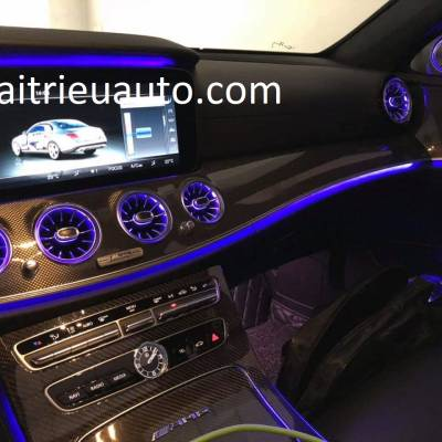 Cửa gió điều hòa đèn led theo xe Mercedes E
