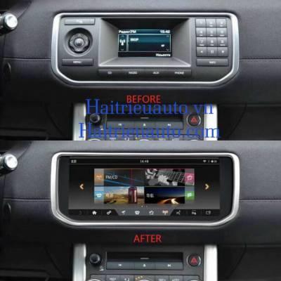 màn hình android theo xe Randrover evoque
