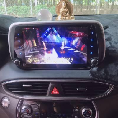 màn hình android Zestech theo xe hyundai santafe