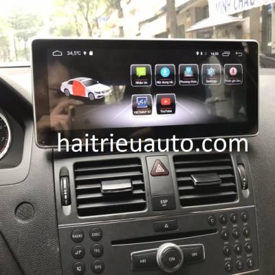 màn hình android cho xe mercedes c 300 2010