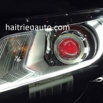 độ đèn led cho xe navara 2107