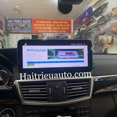màn hình android xe mercedes E 200