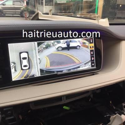 Lắp camera 360 cho xe Mercedes S500