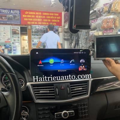 màn hình android xe mercedes E250 2010