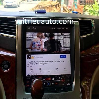 màn hình android tesla xe Alpha