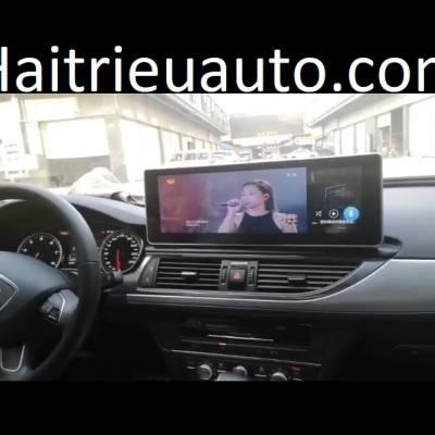 màn hình android xe audi A6