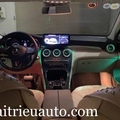 Cửa gió Turbine đèn LED theo xe Mercedes GLC 300