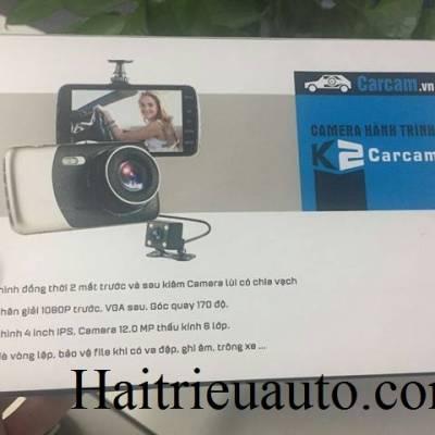 K2 Carcam ghi hình 2 mắt + Cam lùi