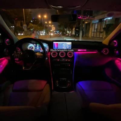 Cửa gió Turbine đèn LED theo xe Mercedes GLC 200 2020