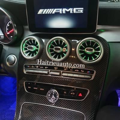 Cửa gió Turbine đèn LED theo xe Mercedes C300