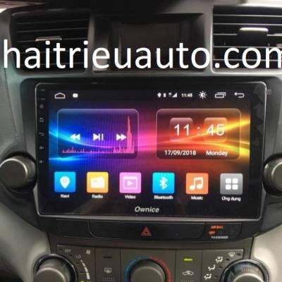 màn hình android theo xe HIGHLENDER
