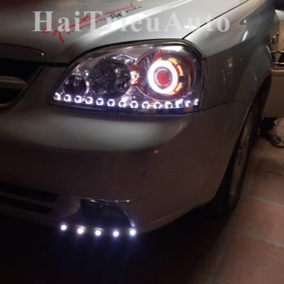 Độ đèn bi xenon và led cho xe carnival