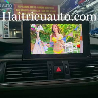 màn hình nadroid theo xe audi A6 2017