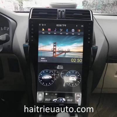 Màn hình tesla theo xe Toyota Land Cruiser Prado 2018