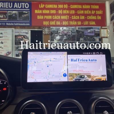 màn hình android xe mercedes C 250