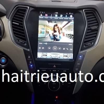 màn hình tesla cho xe Hyundai Santafe
