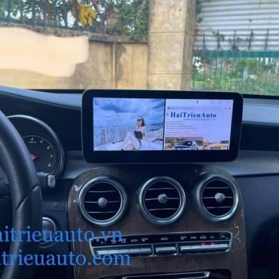 màn hình android theo xe mercedes GLC 2021