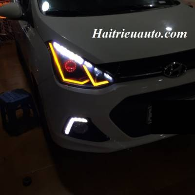 Độ đèn pha cho Hyundai Grand I10